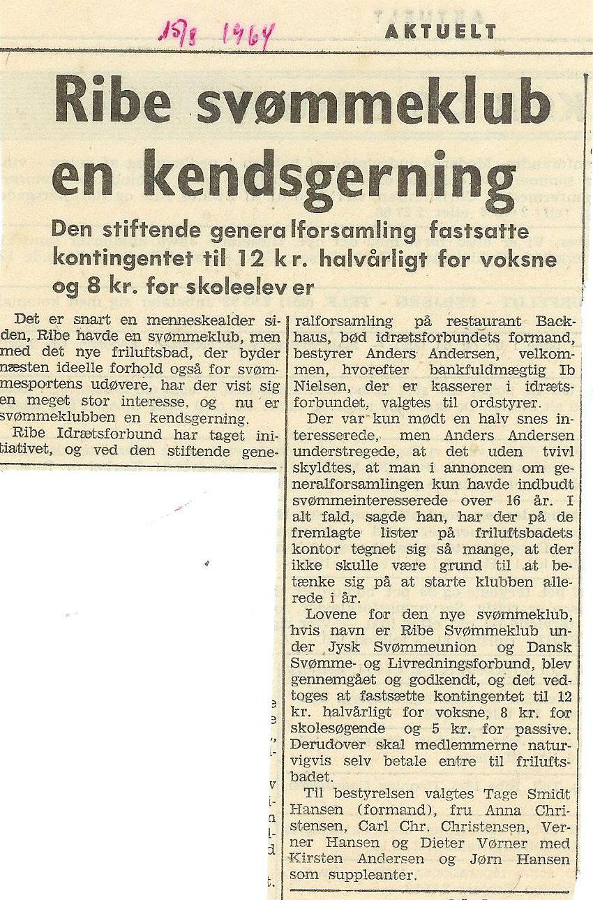 Ribe-Svmmeklub-1964klub
