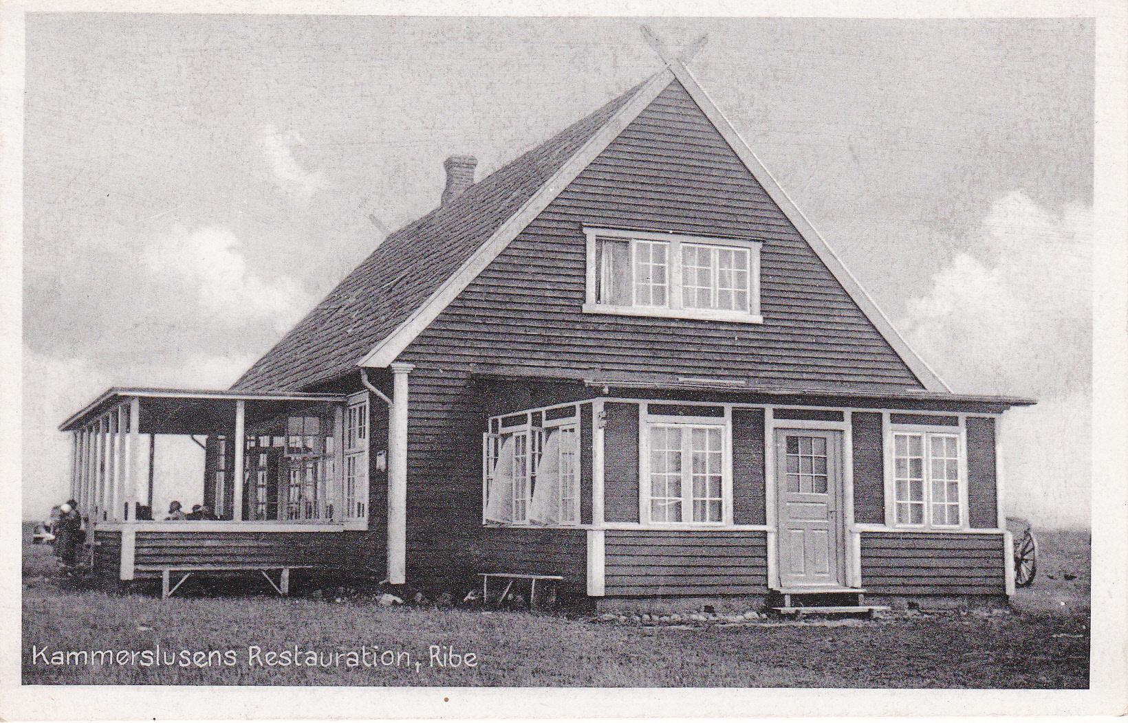 Restaurant Kammerslusen før branden i 1988